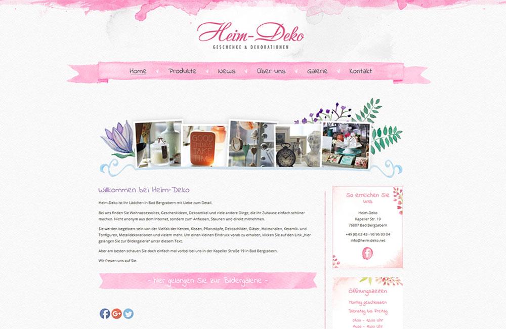 Website von Heim-Deko online