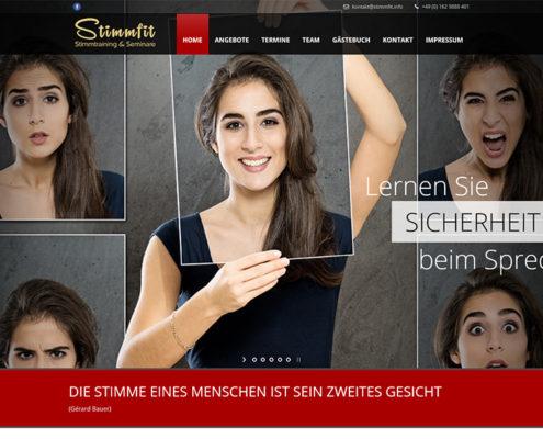 Website Stimmfit Stimmtraining und Seminare