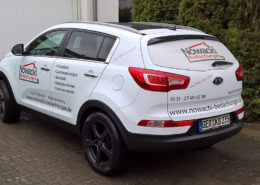 Fahrzeugbeschriftung Kia Sorento Nowacki Bedachungen
