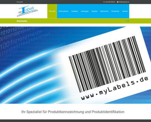 Website myLabels GmbH Offenbach