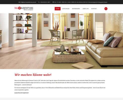 Website Raumausstattung Rau Niederkirchen