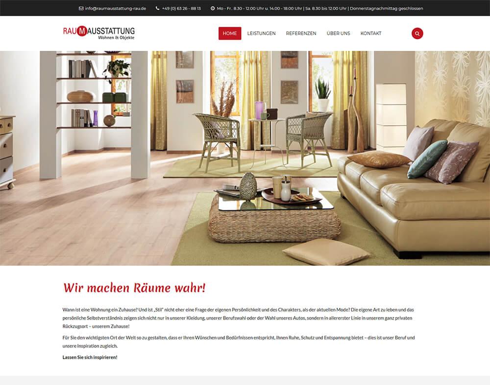 Website von Raumausstattung Rau online