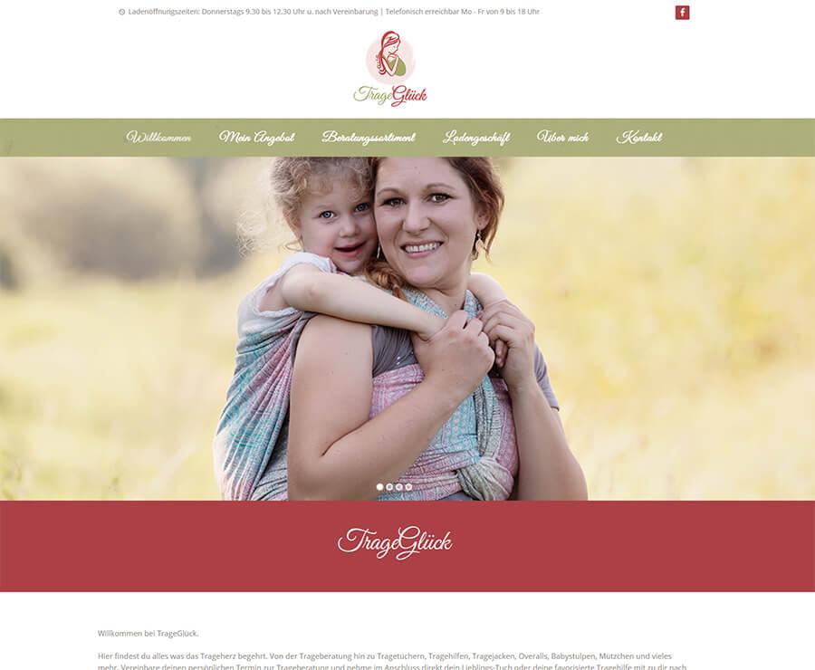 Website von TrageGlück online