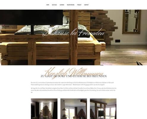 Website Gästehaus Annel