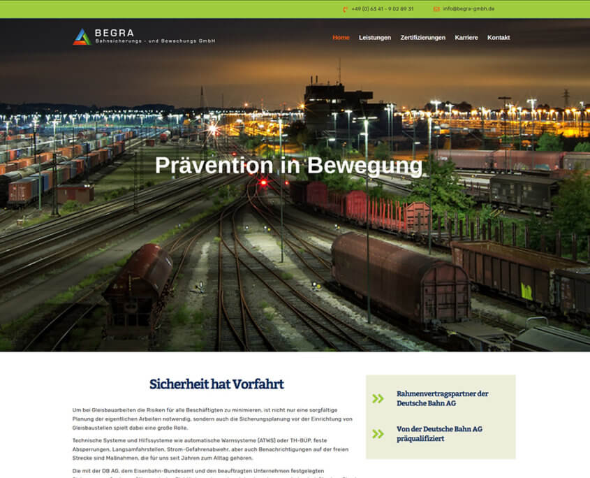 Website Begra GmbH