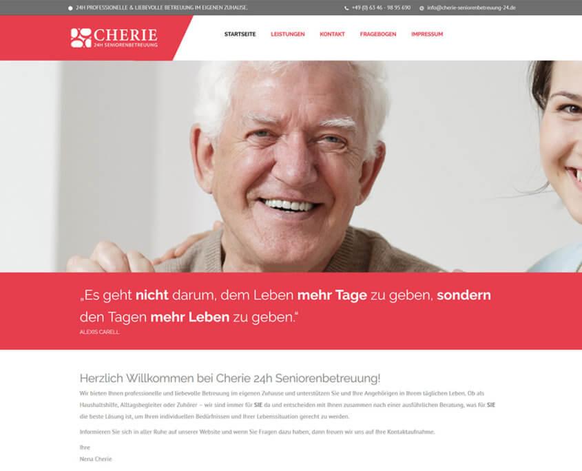 Website Cherie Seniorenbetreuung