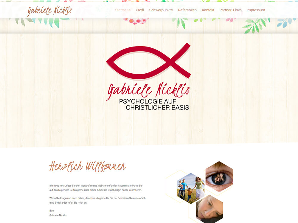 Website von Gabriele Nicklis online