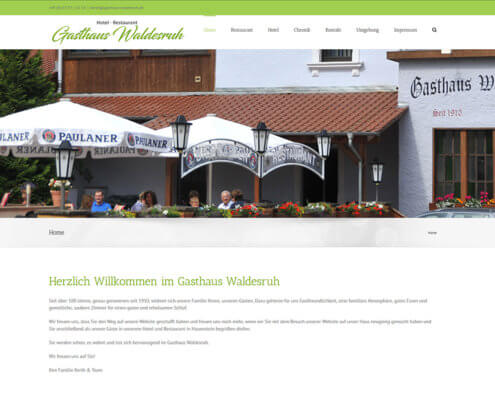Website Gasthaus Waldesruh