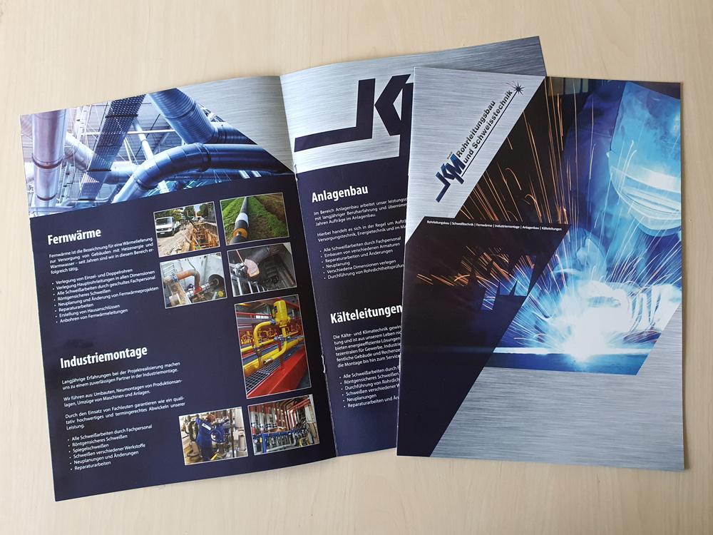 Broschüre für KM Rohrleitungsbau