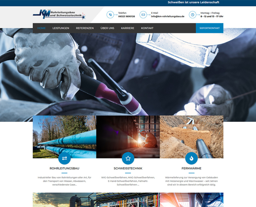 KM Rohrleitungsbau und Schweißtechnik GmbH