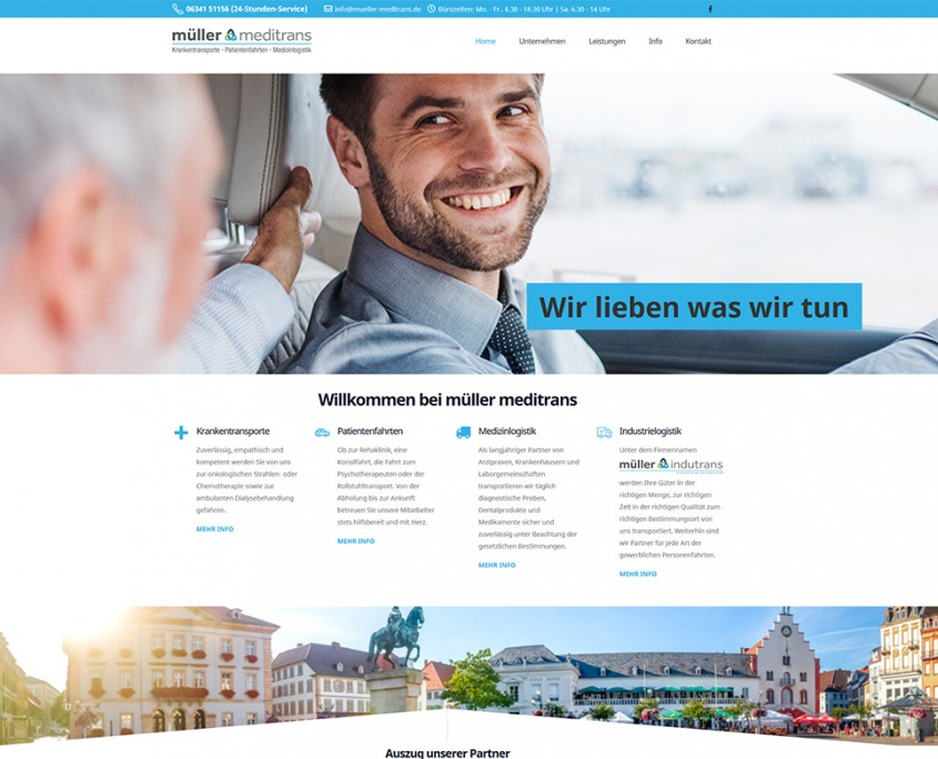 Website Müller Meditrans